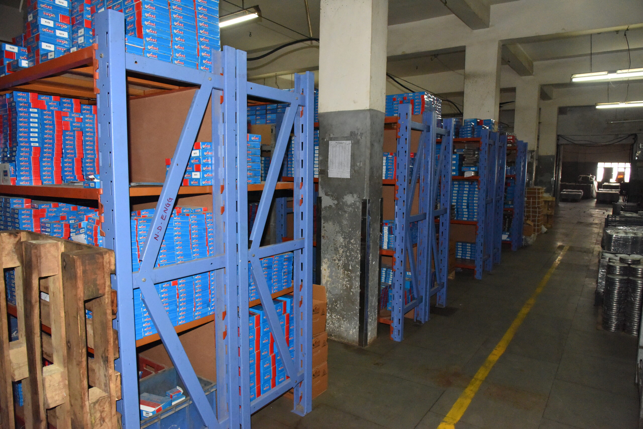warehouse and Stock Room - Marc Bearings Pvt. Ltd. - India